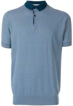 John Smedley striped polo top