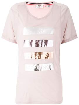 Rossignol laminated striped T-shirt