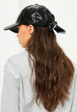 Missguided Black Bandana Detail Cap