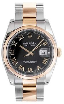 Rolex Oyster Perpetual Datejust 36 Black Dial Stainless Steel and 18K Everose Gold Bracelet Automatic Men's Watch