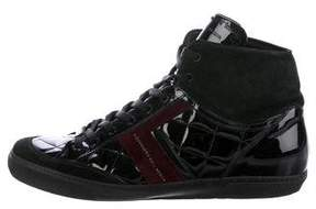 Alessandro Dell'Acqua Quilted Patent Leather Sneakers