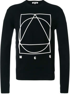 McQ long sleeved motif sweater