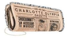 Charlotte Olympia Gazette Clutch