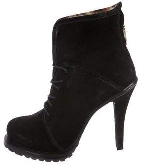 Elizabeth and James Suede Platform Ankle Boots