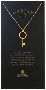 Dogeared Master Key, Crystal Halo Key Necklace Necklace