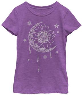 Fifth Sun Purple Berry Lace-Print Luna Tee - Girls