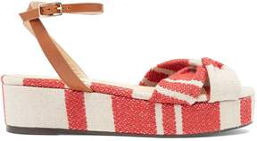Castaner Angela linen flatform sandals