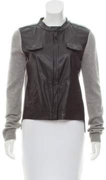 Ella Moss Vegan Leather-Paneled Jacket