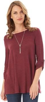 Apt. 9 Women's 3/4 Sleeve Necklace Top