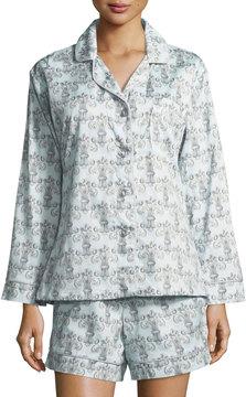 BedHead Fleur De Lis Print Shorty Pajama Set