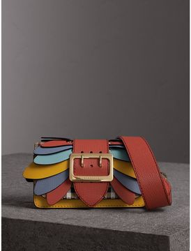 Burberry The Small Buckle Bag in Haymarket Check and Leather - CINNAMON RED - STYLE