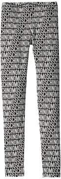 Moschino Kids All Over Logo Print Leggings Girl's Casual Pants