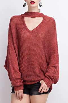 Easel Choker Sweater Tunic
