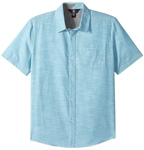 Volcom Everett Oxford Short Sleeve Woven Top Boy's Short Sleeve Button Up