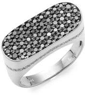 Effy Sterling Silver & Diamond Band Ring