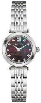 Bulova Ladies Diamond and Stainless Steel Watch- 96P169