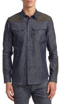 G Star Denim Cotton Casual Button-Down Shirt