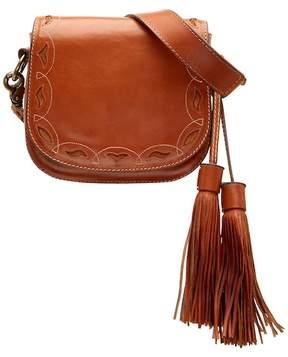 Frye Cutout Mini Leather Saddle Bag