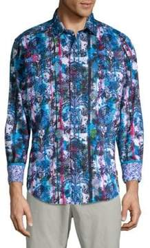 Robert Graham Drew Circle Printed Cotton Button-Down Shirt
