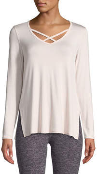 Beyond Yoga Cross Me Once Long-Sleeve Pullover Top