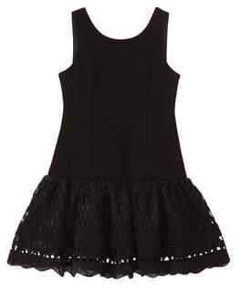 Nanette Lepore Ponte Knit Lace Dress.