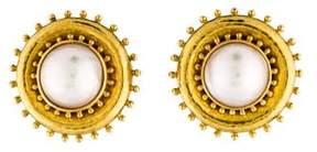 Elizabeth Locke 18K Mabé Pearl Clip-On Earrings