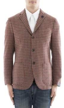 Lardini Men's Multicolor Wool Blazer.