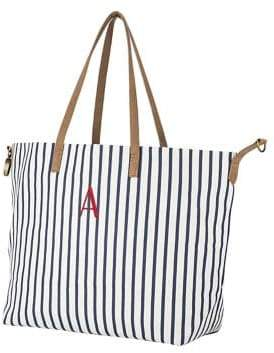 Cathy's Concepts Travel 2018 Personalized Striped Overnight Tote