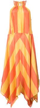 Apiece Apart striped halterneck dress