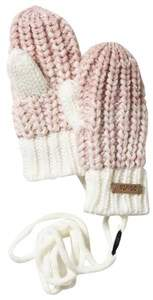 Barts Pink Knitted Stids Mitts