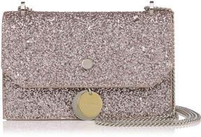 Jimmy Choo FINLEY Tea Rose Metallic Coarse Glitter Fabric Cross Body Mini Bag
