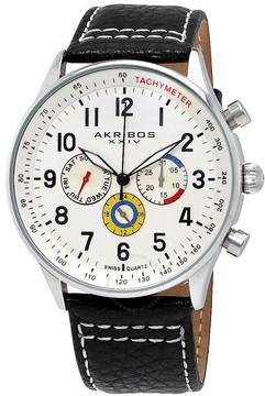 Akribos XXIV Multi-Function White Dial Men's Watch