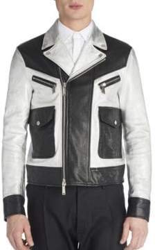 Viktor & Rolf Leather Two-Toned Jacket