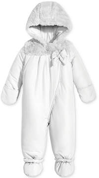 First Impressions Footed Snowsuit with Faux Fur Trim, Baby Girls (0-24 months), Created for Macy's