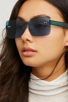 Free People So Square Shield Sunglasses