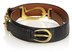 Hermes Pre-owned: Crocodile Leather Belt.