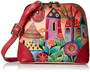 Anuschka Anna by Women's Genuine Leather Small Zip-Around Handbag | Multi Compartment Organizer |