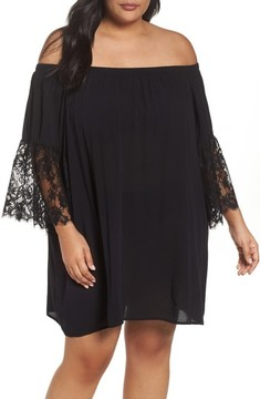 Chelsea28 Plus Size Women's Off The Shoulder Cover-Up
