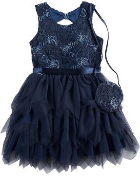 Knitworks Girls 4-6x Rose Embossed Dress