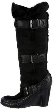 Fendi Suede Wedged Boots