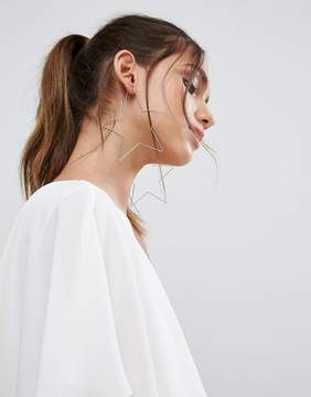 Aldo Cuwien Oversized Star Hoop Earrings