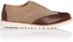 Emporio Armani Men's Suede & Leather Wingtip Balmorals