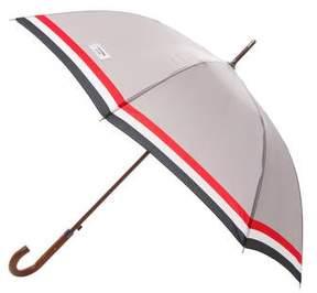 Thom Browne Striped Wooden Handle Umbrella