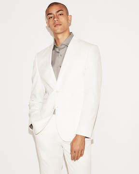 Express Slim White Cotton-Blend Stretch Suit Jacket