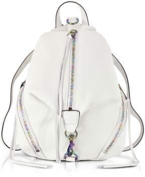 Rebecca Minkoff Bianco Leather Medium Julian Backpack - WHITE - STYLE