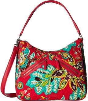Vera Bradley Vivian Hobo Bag Hobo Handbags - CLASSIC BLACK - STYLE