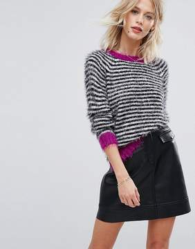 Esprit Stripe Sweater with Pink Contrast