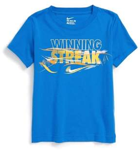 Nike Boys Blue Winning Streak Glow In The Dark Short Sleeve Tee T-Shirt 4
