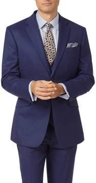 Charles Tyrwhitt Indigo Slim Fit Hairline Business Suit Wool Jacket Size 36