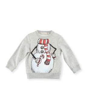 Stella McCartney Biz Snowman Sweatshirt, Size 6-36 Months